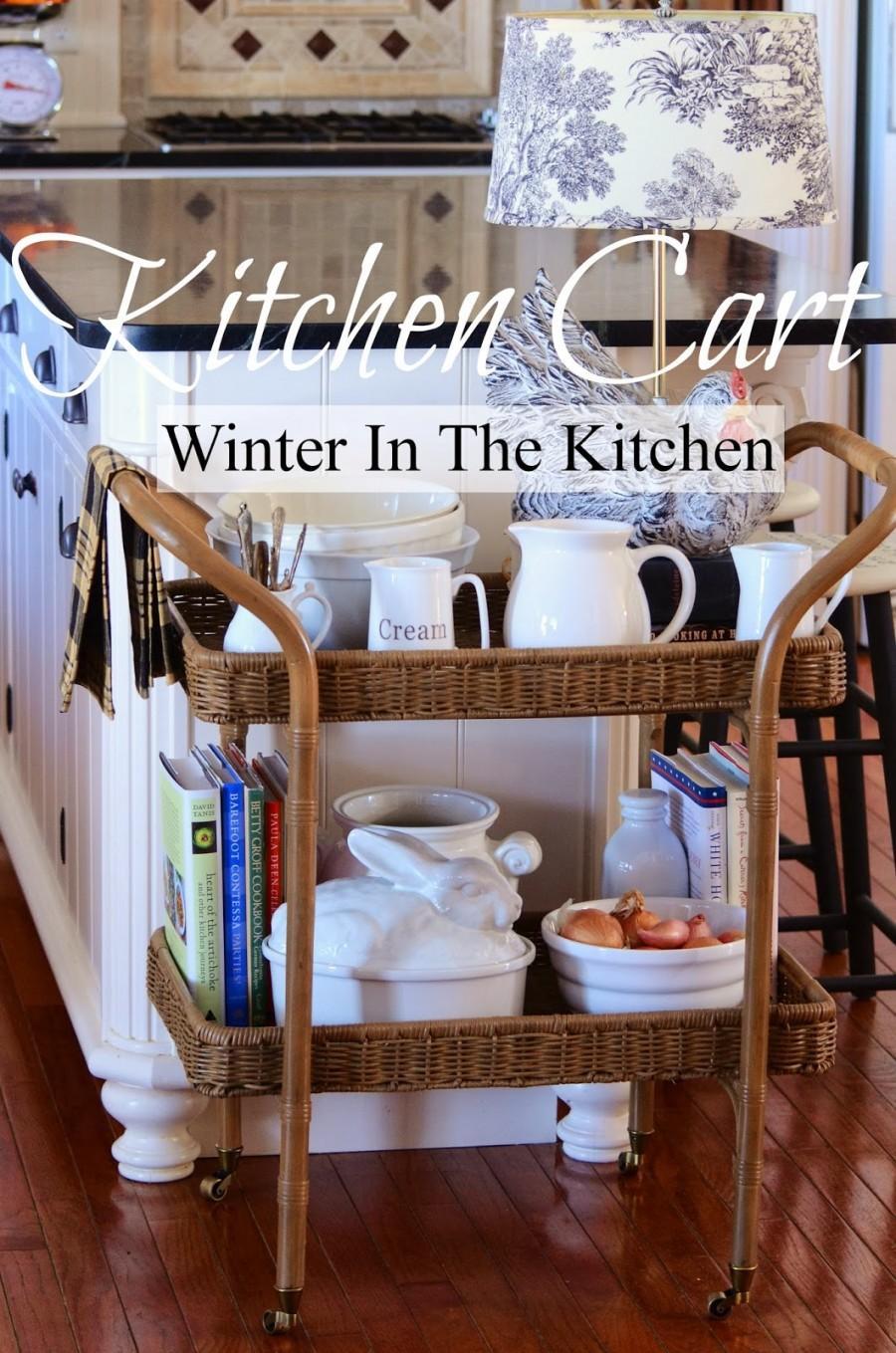 KITCHEN CART~ WINTER IN THE KITCHEN