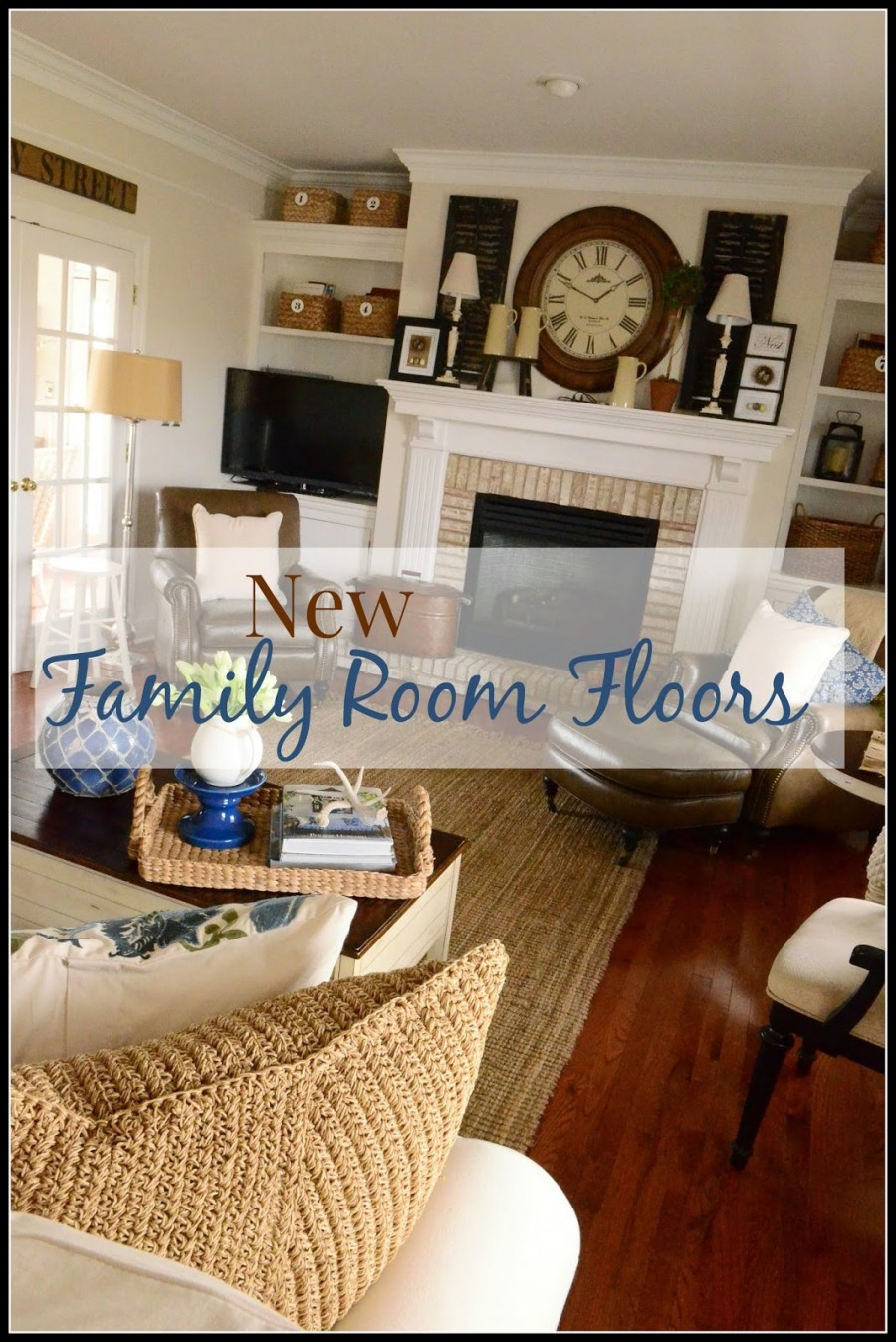 NEW HARDWOOD FLOORS IN THE FAMILY ROOM