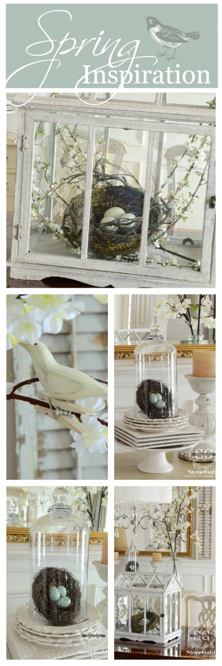 SPRING INSPIRATION- lots of easy to do ways to decorate-stonegableblog.com