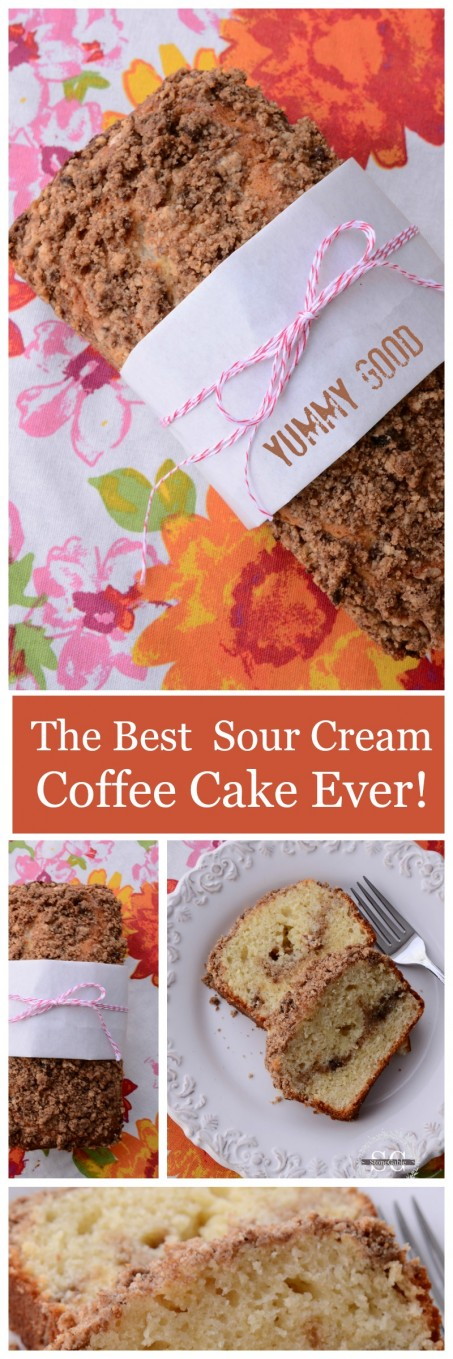 THE BEST SOUR CREAM COFFEE CAKE EVER-scrumptious and great crumb-stonegableblog.com