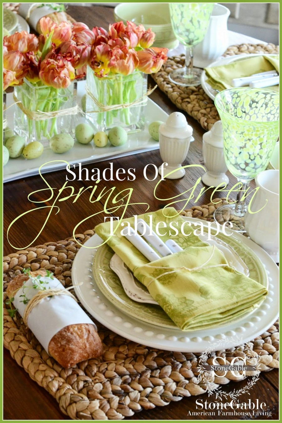 SHADES OF SPRING GREEN TABLESCAPE