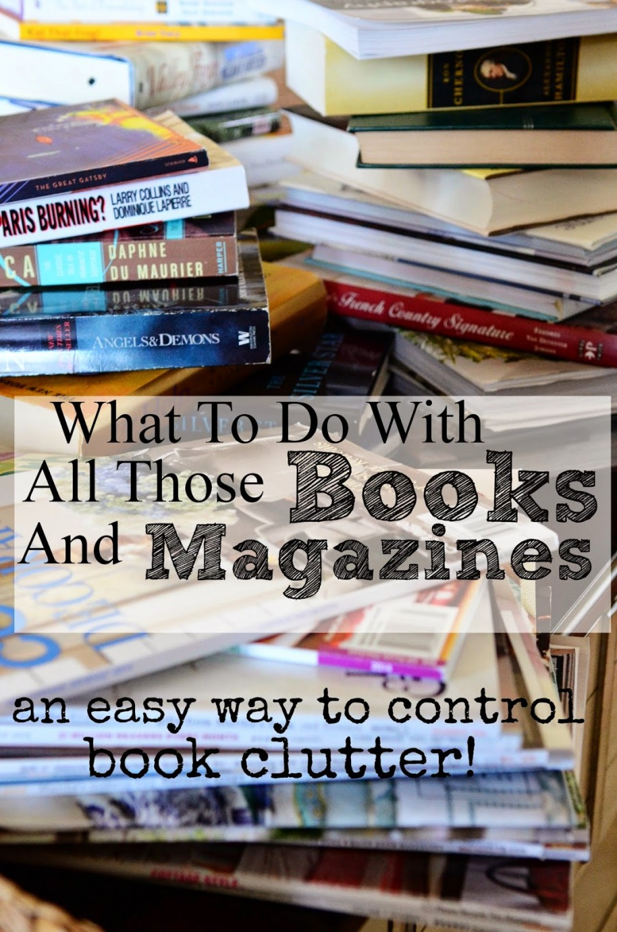Organizing Book And Magazine Clutter Stonegable