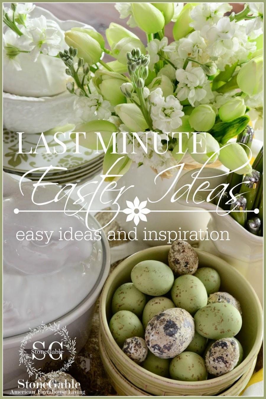 last minute easter ideas-stonegableblog