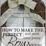 HOW TO MAKE THE PERFECT AND MOST EASY PEASY BOW