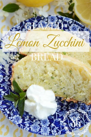 Title Page, Glazed Lemon Zucchini Bread