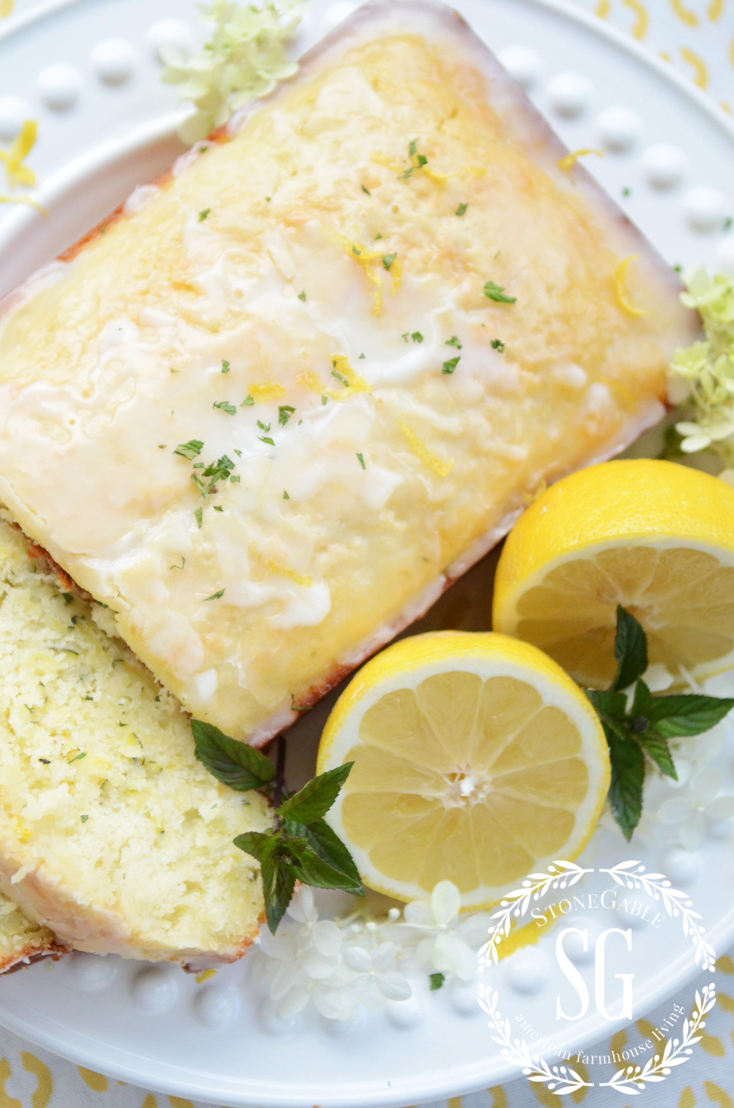 glazed lemon zucchini bread  stonegable