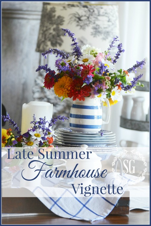 LATE SUMMER FARMHOUSE VIGNETTE-TITLE PAGE-stonegableblog,com