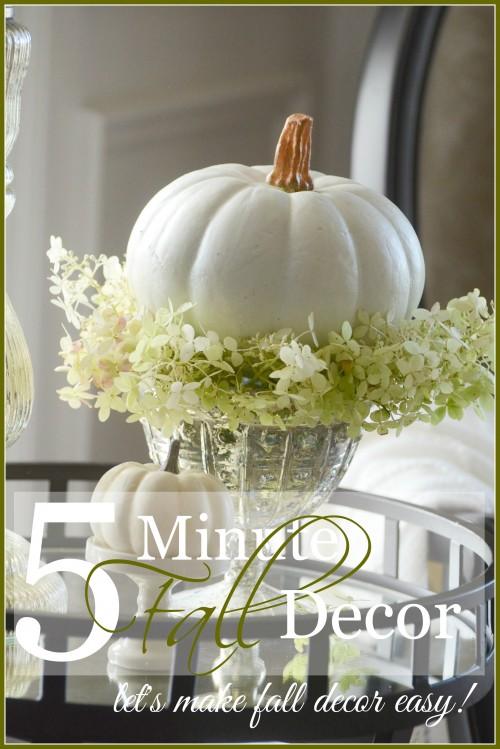 5 MINUTE FALL DECOR- let's make fall decor easy... and pretty! stonegableblog