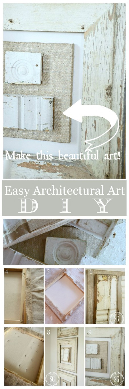 ARCHITECTURAL SALVAGE WALL ART DIY- Beautiful and easy to make for your home- stonegbleblog.com