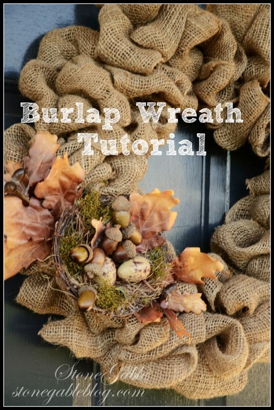 BLOG~ BURLAP WREATH-TITLE PAGE-stonegableblog.com