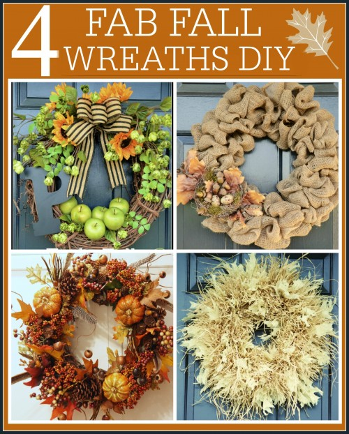 FOUR FAB FALL WREATHS DIY'S- autumn-stonegableblog.com