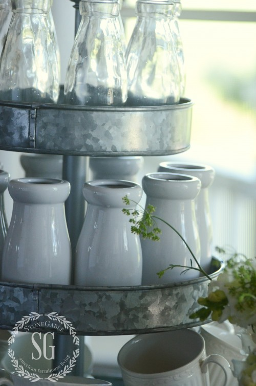 Farmhouse Vintage-bottles and vases-stonegableblog.com