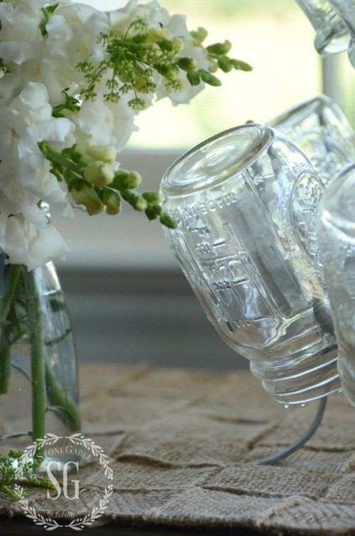 Farmhouse Vintage-just washed ball jars-stonegableblog.com