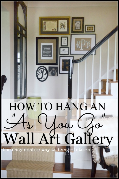 How To Create An As You Go Wall Art Gallery-TITLE PATE-stonegableblog.com
