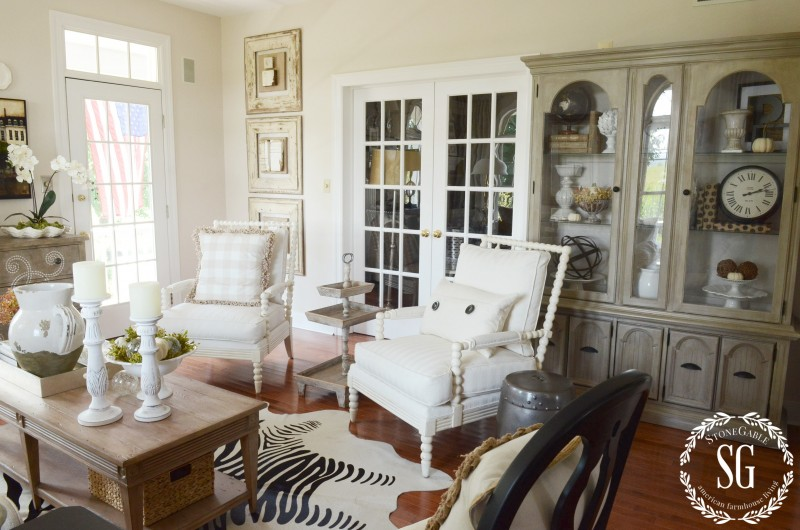 Hutch-Living Room-Styled-two chairs-stonegableblog.com