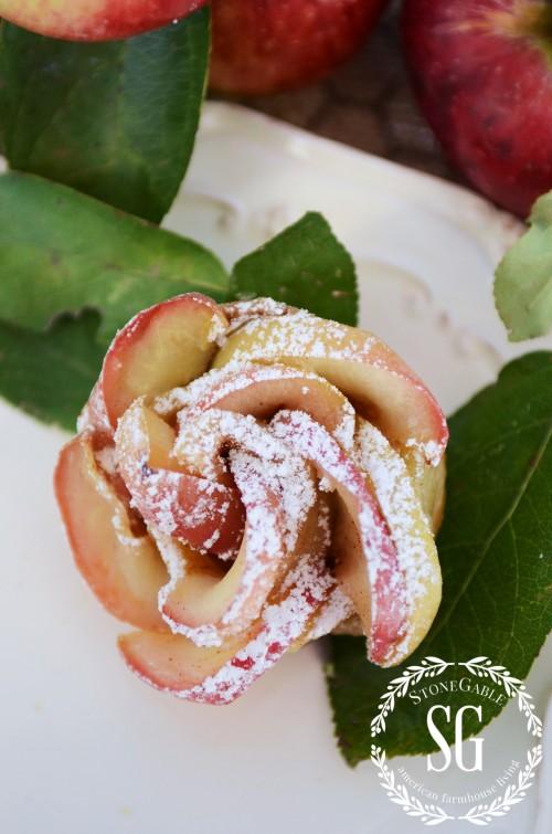 PUFF PASTRY APPLE ROSETTES- delicous-stonegableblog.com