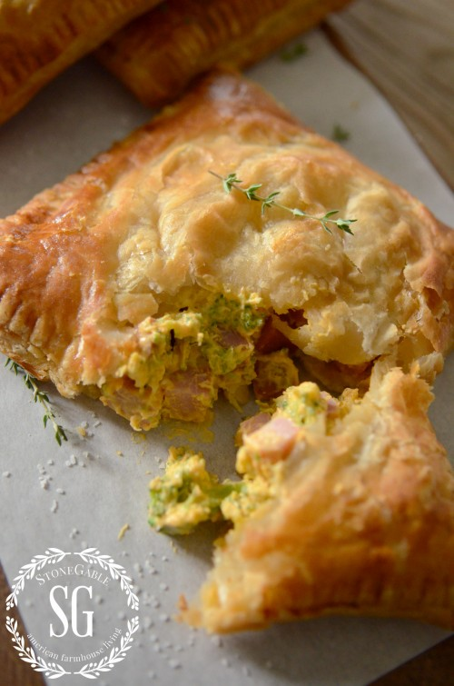 puff pastry hand pie-inside the pie-stonegableblog.com
