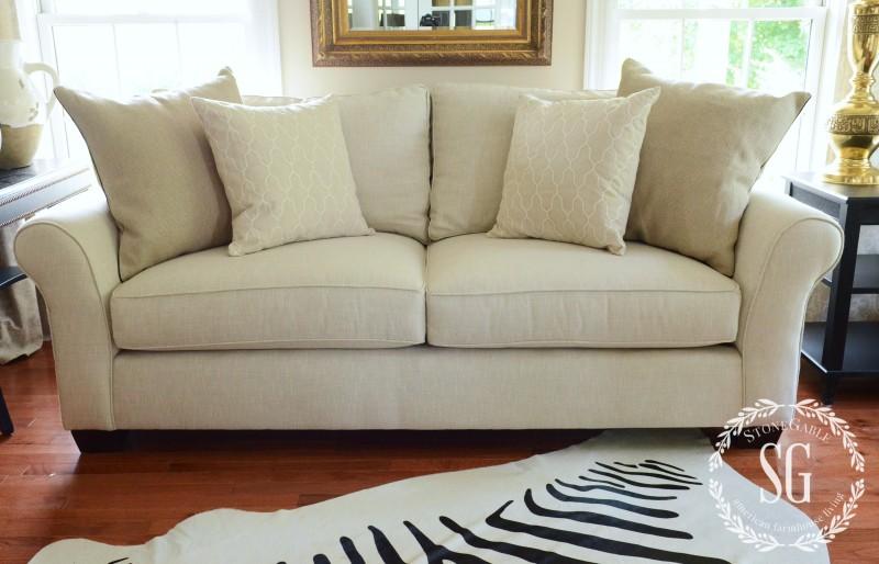 sofa pillows- smaller pillows-stonegableblog.com