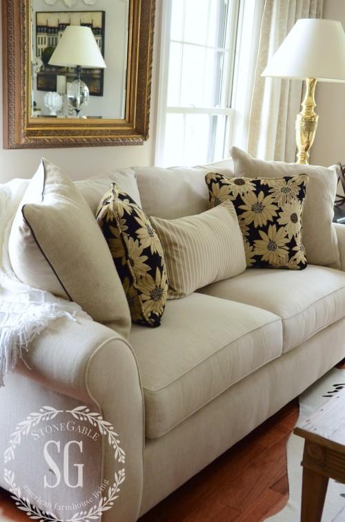 double pillows-close up