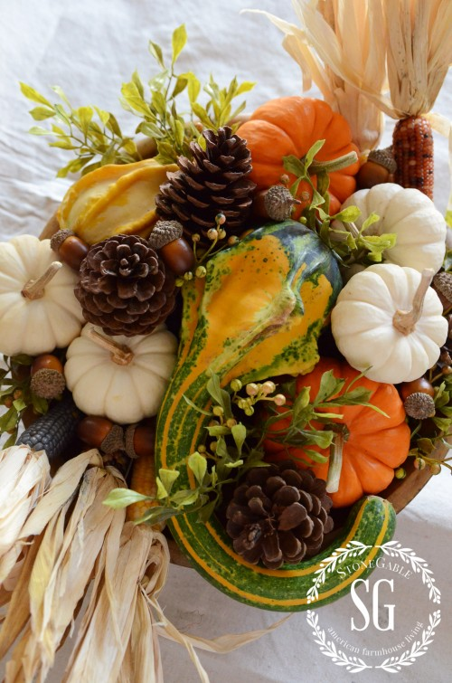 5 MINUTE FALL DECOR-acorns-stonegableblog.com