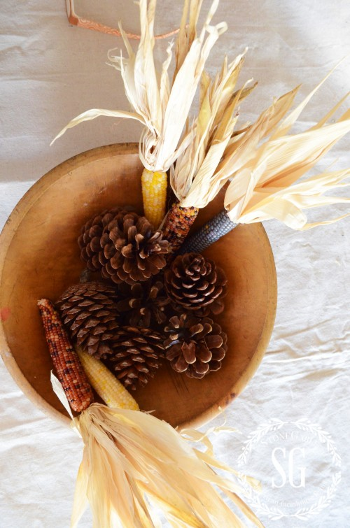 5 MINUTE FALL DECOR-pine cones- both sides-stonegableblog.com