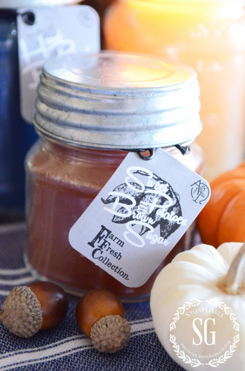AGNES & IRENE CANDLE GIVEAWAY- Sweet potato candle-stonegableblog.com