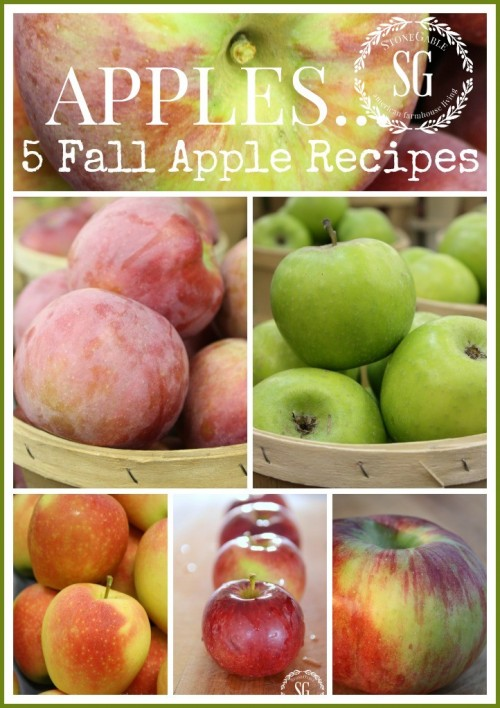 APPLES-FIVE FALL APPLE RECIPES-stonegableblog