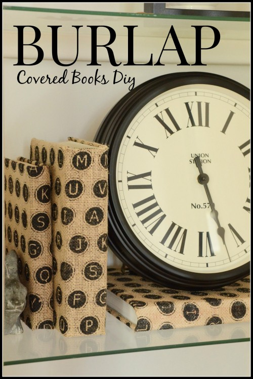 Burlap Covered Book-stonegableblog