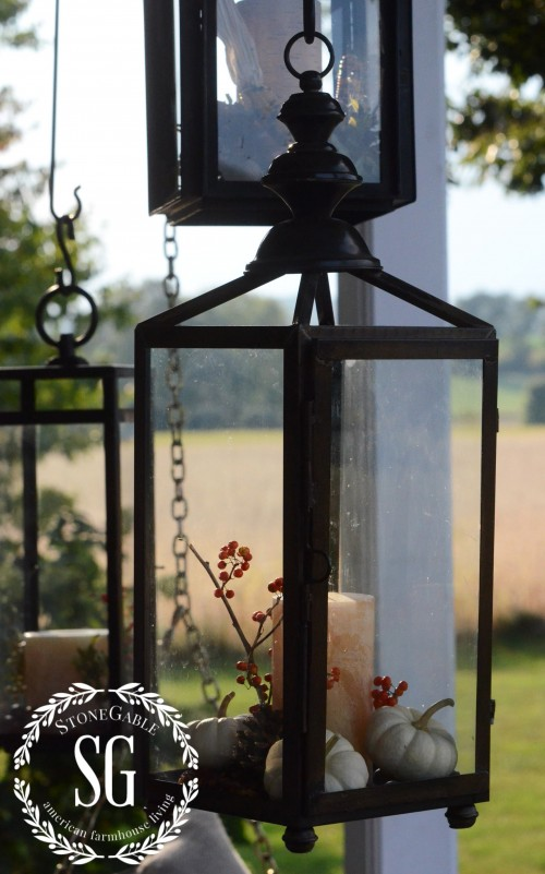 FALL BACK PORCH- three lanterns-stonegableblog.com