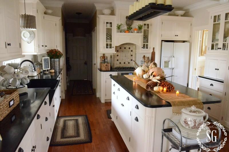 FALL HOME TOUR-full kitchen-stonegableblog.com