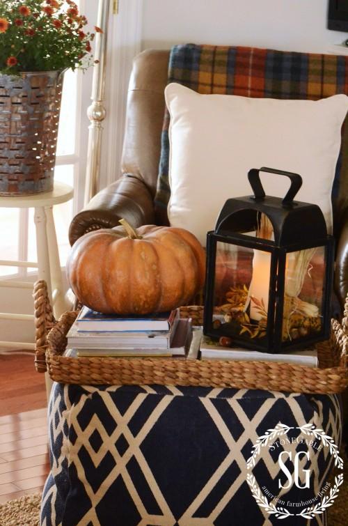 FALL HOME TOUR-pumpkin on poof-stonegableblog.com