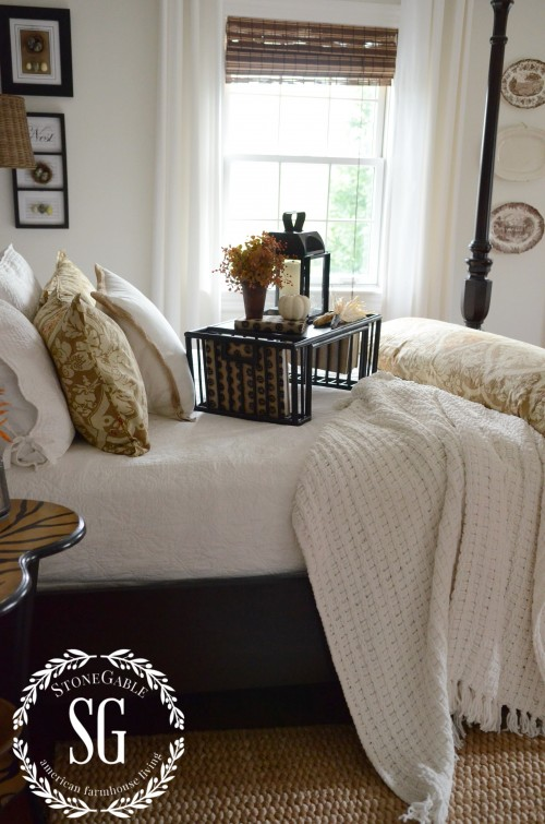 FALL IN THE GUEST BEDROOM-bed-table-stonegableblog.com