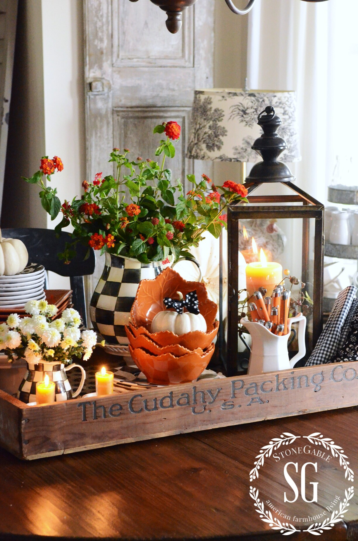 FALL KITCHEN TABLE CENTERPIECE - StoneGable