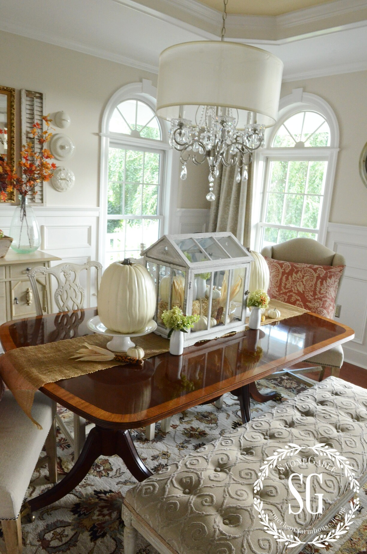 FALL IN THE DINING ROOM... THE SOFTER SIDE - StoneGable