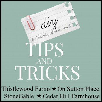 DIY TIPS AND TRICKS-ONCE A MONTH-stonegableblog.com