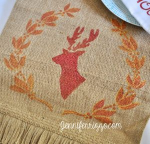 Jennifer Rizzo deer head table runner
