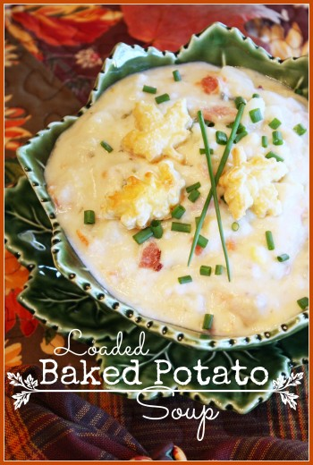 Loaded Baked Potato Soup Title Page 1 stonegableblog.com