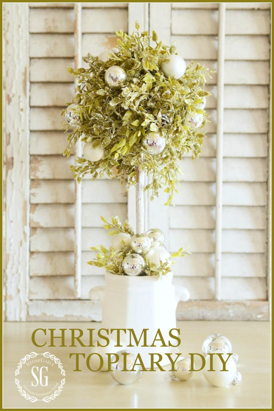 CHRISTMAS TOPIARY DIY-stonegableblog.com