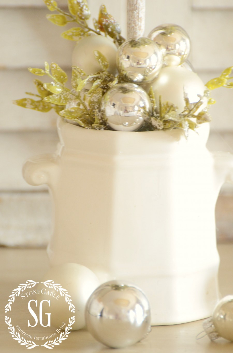 CHRISTMAS TOPIARY DIY-sugar bowl base-stonegableblog.com
