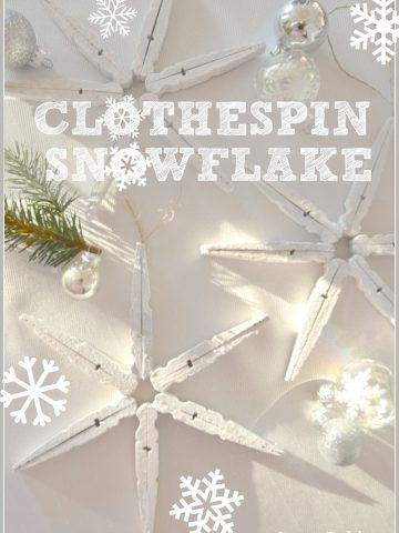 CLOTHSPIN SNOWFLAKES- easy-to-make ornaments  and so pretty-stoneableblog.co
