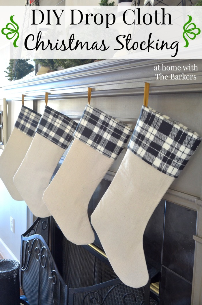 DIY-Drop-Cloth-Christmas-Stockings-Black-and-White-Plaid-700x1056