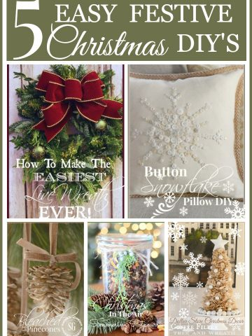 5 EASY FESTIVE CHRISTMAS DIY'S