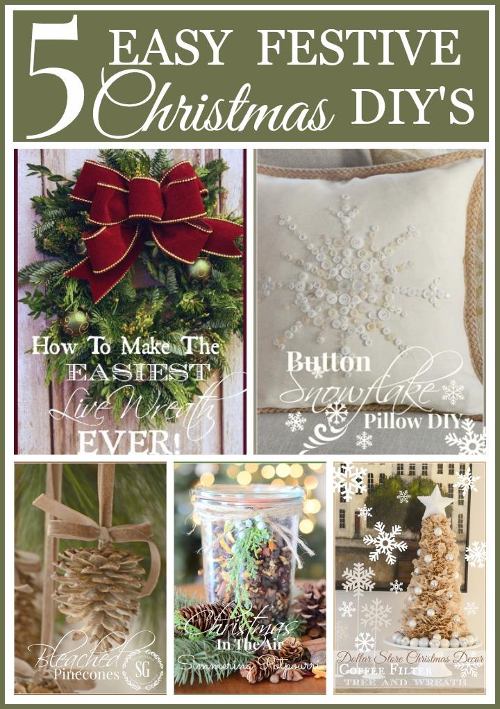 5 EASY FESTIVE CHRISTMAS DIY'S