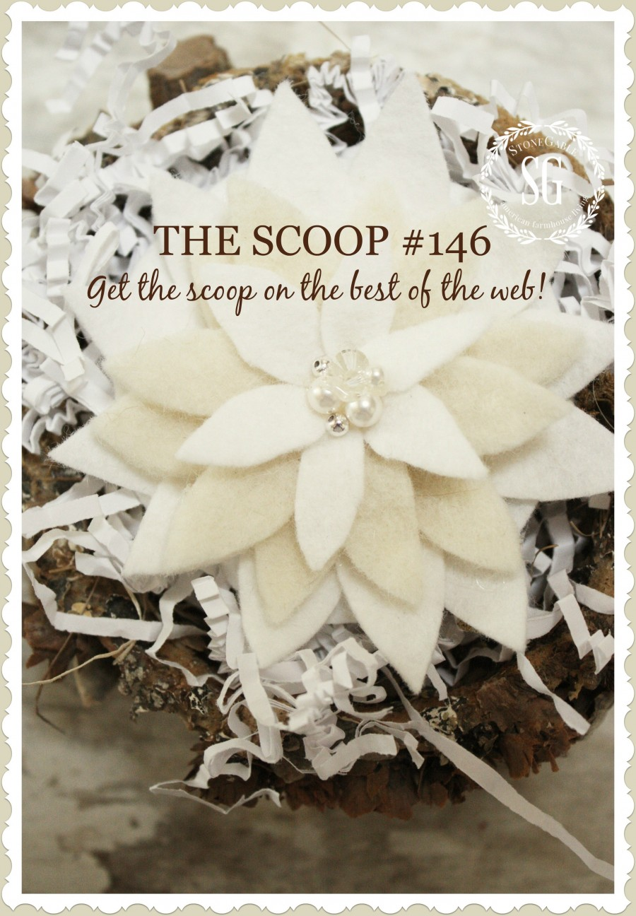 THE SCOOP- hundreds of creative projects, decor, christmas diy's, and inspiration- stonegableblog.com