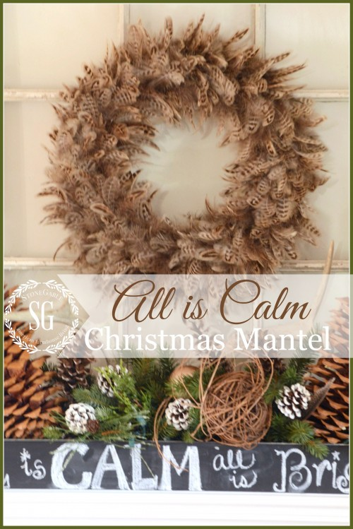 ALL IS CALM CHRISTMAS MANTEL