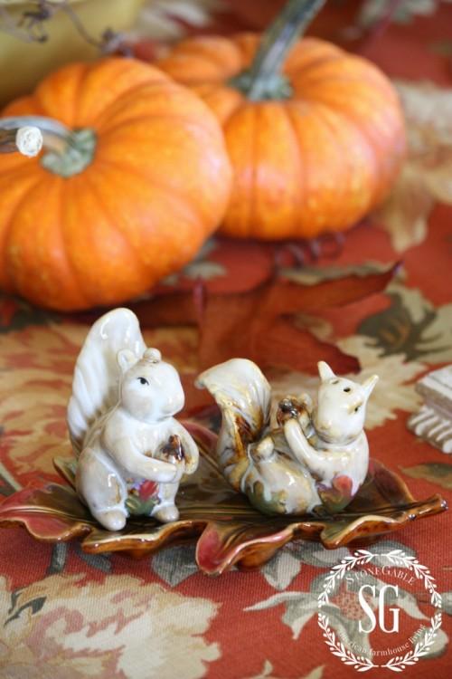 fun thanksgiving salt and pepper shakers-stonegableblog