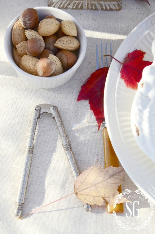 nuts and nutcracker-thanksgiving table-stonegableblog