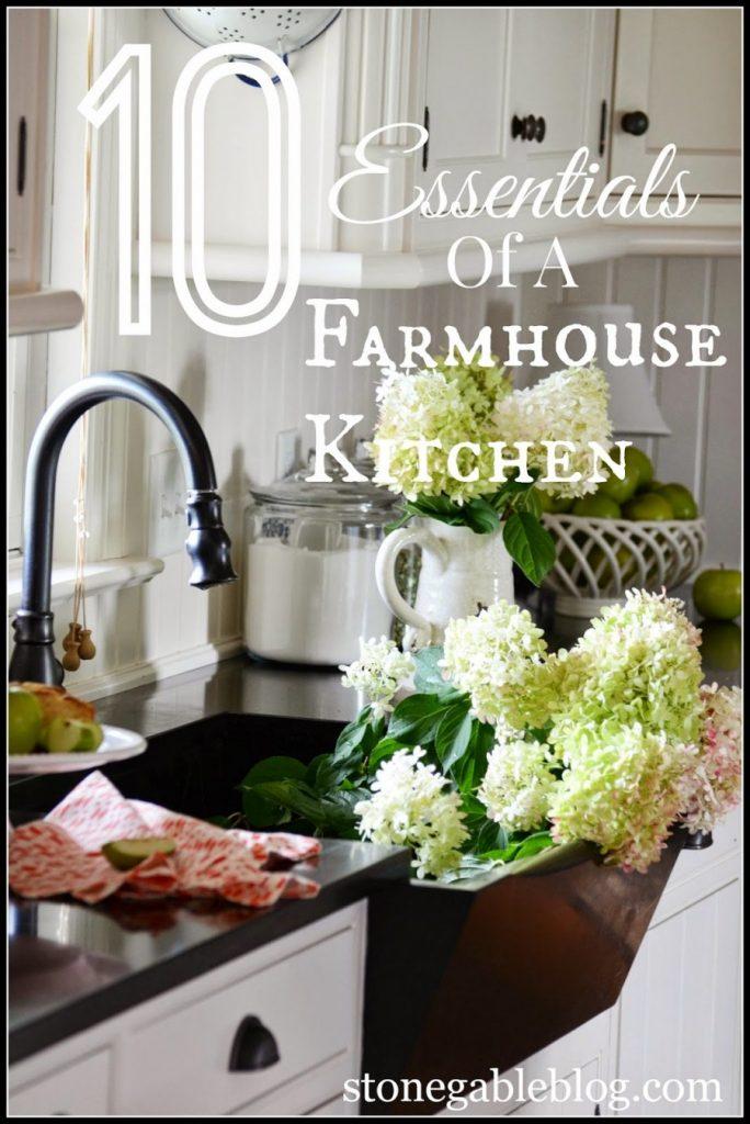 10 ELEMENTS OF A FARMHOUSE KITCHEN-TITLE PAGE-STONEGABLEBLOG.COM