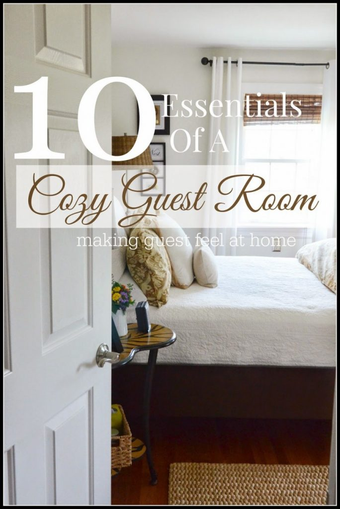 10 ESSENTIALS FOR MAKING A COZY GUEST ROOM-TITLE PAGE-stonegablebog