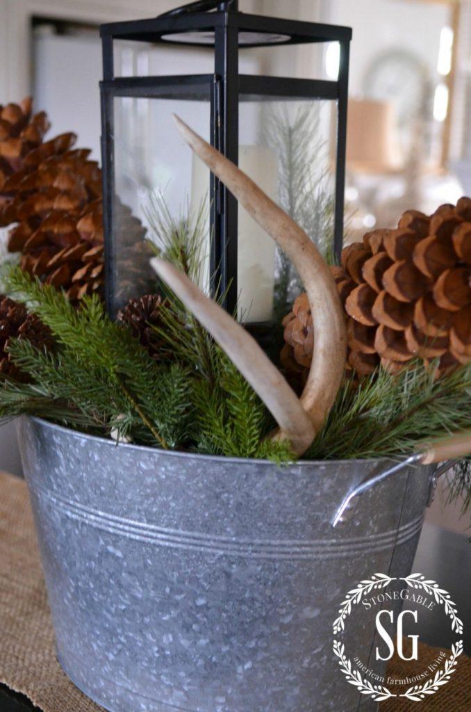 CHRISTMAS FARMHOUSE KITCHEN-lantern-stonegableblog.com